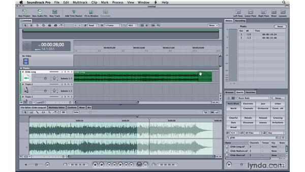Editing fixed-duration music: Soundtrack Pro 3 Essential Training