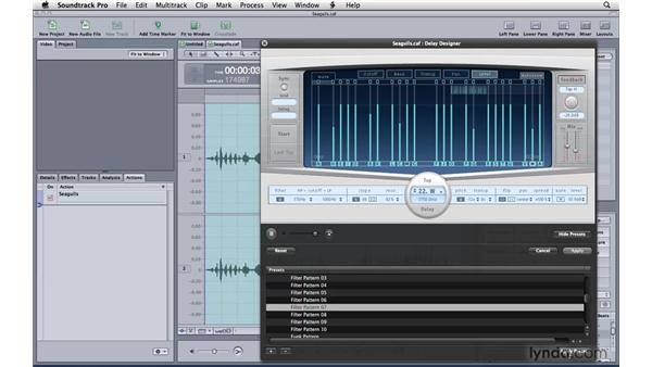 Shaping sound effects: Soundtrack Pro 3 Essential Training