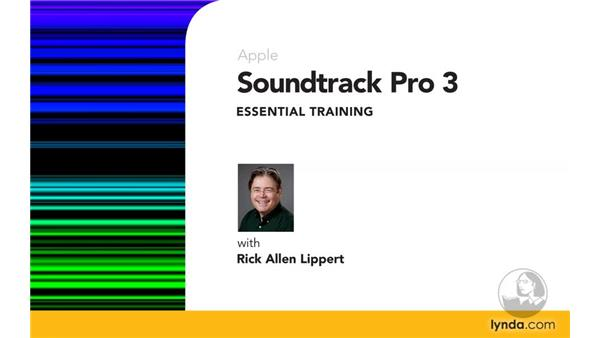 Goodbye: Soundtrack Pro 3 Essential Training