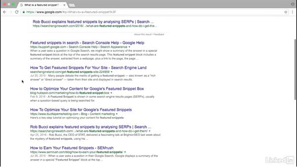 Google featured snippets: Advanced SEO: Search Factors