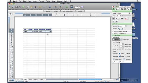 Drilling down to the underlying data: Excel 2008 for Mac: Pivot Tables for Data Analysis