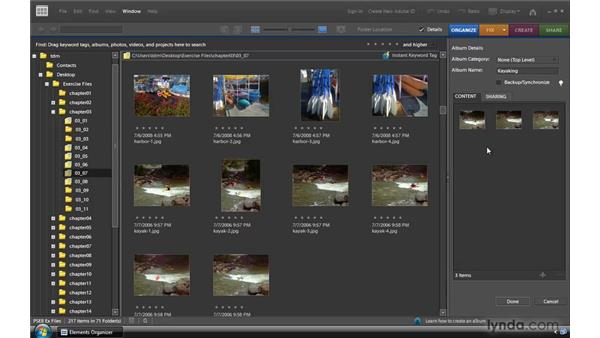 Organizing photos in albums: Photoshop Elements 8 for Windows Essential Training