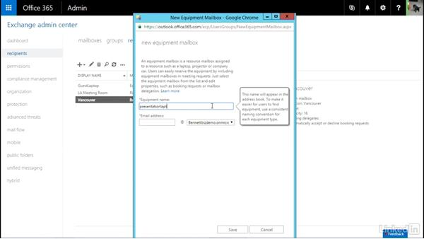 Create and manage resource mailboxes: Office 365: Configure Exchange Online and Skype for Business Online for End Users