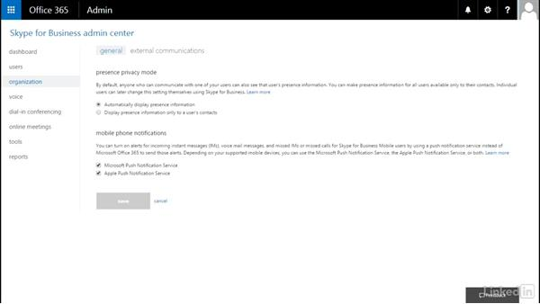 Configure presence: Office 365: Configure Exchange Online and Skype for Business Online for End Users