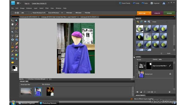 Using Quick Fix tools: Photoshop Elements 8 for Windows Essential Training