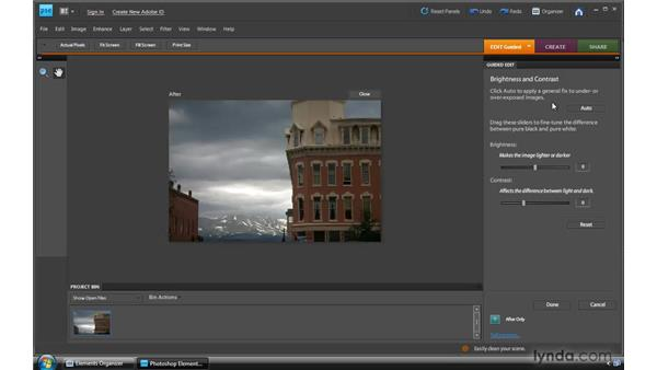 Working in Guided Edit in the Editor: Photoshop Elements 8 for Windows Essential Training