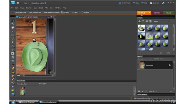Opening files in Full Edit: Photoshop Elements 8 for Windows Essential Training