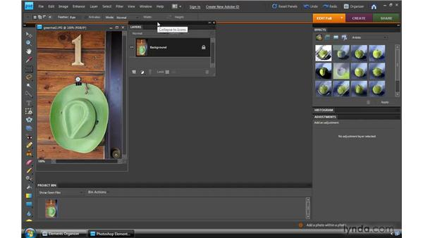 Touring the Full Edit interface: Photoshop Elements 8 for Windows Essential Training