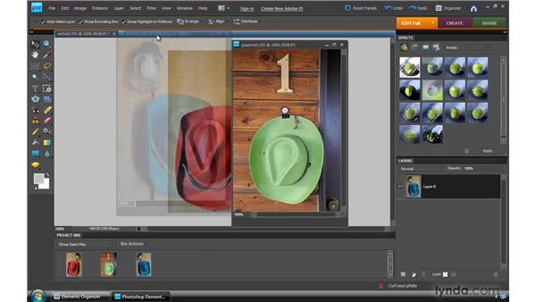 Working with tabbed documents: Photoshop Elements 8 for Windows Essential Training