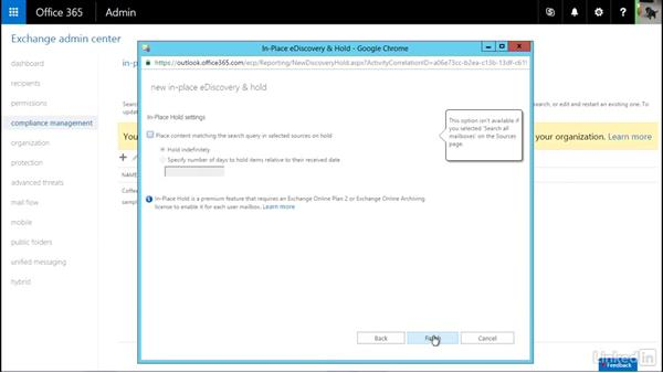 Enable litigation or legal hold: Office 365: Plan for Exchange Online and Skype for Business Online