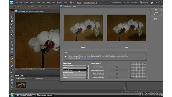 Adjusting with Color Curves: Photoshop Elements 8 for Windows Essential Training