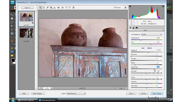 Working with raw photos: Photoshop Elements 8 for Windows Essential Training