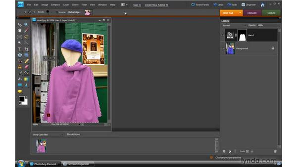 Using the Smart Brush tool: Photoshop Elements 8 for Windows Essential Training