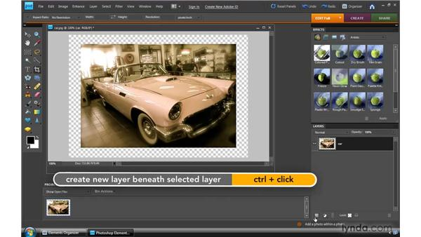 Using layer styles: Photoshop Elements 8 for Windows Essential Training