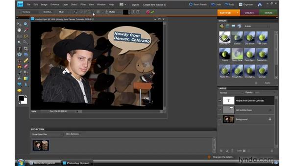 Editing text: Photoshop Elements 8 for Windows Essential Training