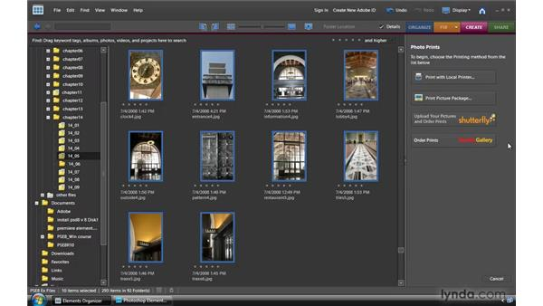 Ordering prints and books: Photoshop Elements 8 for Windows Essential Training