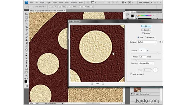 Amount and Radius: Photoshop CS4: Sharpening Images New Features