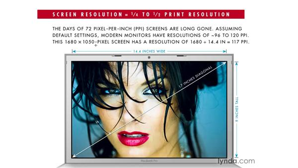 Measuring your screen resolution: Photoshop CS4: Sharpening Images New Features