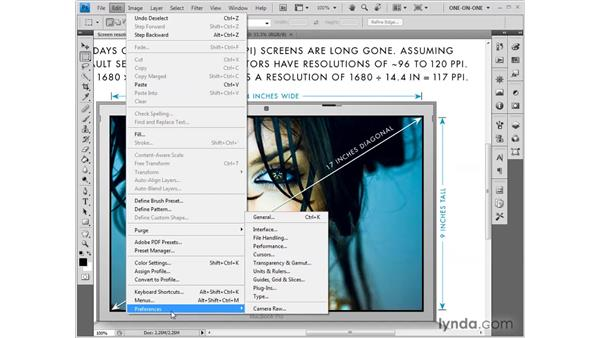 Setting your screen resolution: Photoshop CS4: Sharpening Images New Features
