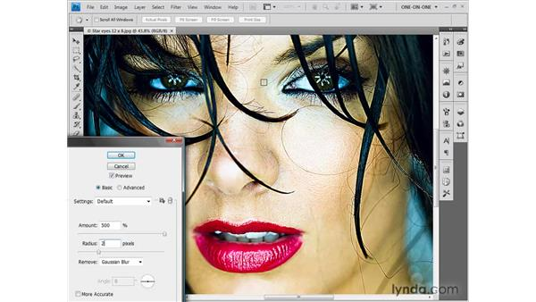Gauging the ideal sharpening settings: Photoshop CS4: Sharpening Images New Features