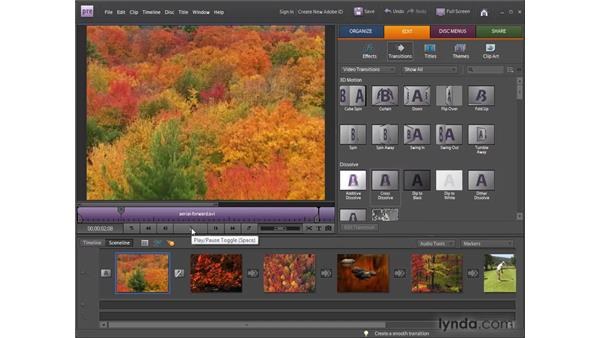Applying transitions: Premiere Elements 8 for Windows Essential Training