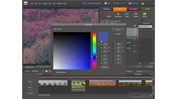 Applying and modifying video effects: Premiere Elements 8 for Windows Essential Training
