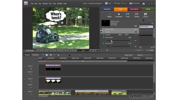 Working with motion tracking: Premiere Elements 8 for Windows Essential Training