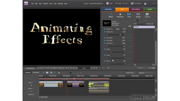 Understanding animation : Premiere Elements 8 for Windows Essential Training