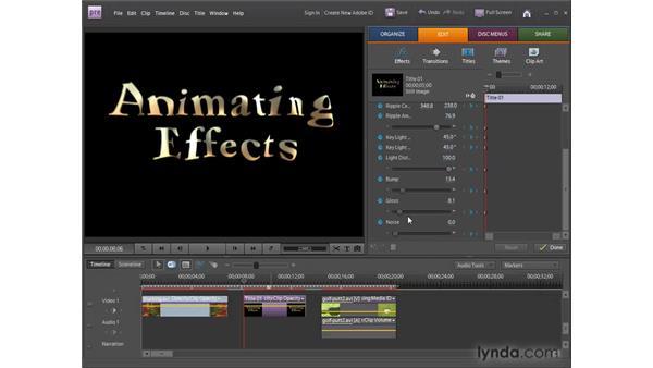Understanding animation : Premiere Elements 8 for Windows Essential Training