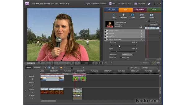 Making portions of clips transparent: Premiere Elements 8 for Windows Essential Training