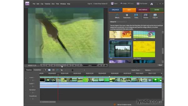 Using InstantMovie and themes: Premiere Elements 8 for Windows Essential Training