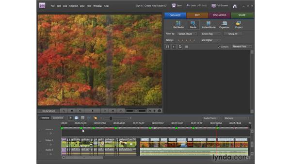 Adding DVD scene markers: Premiere Elements 8 for Windows Essential Training