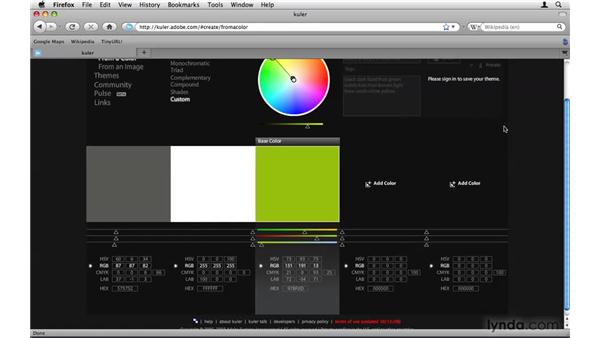 Using Kuler to select a color palette: After Effects Project Workflow