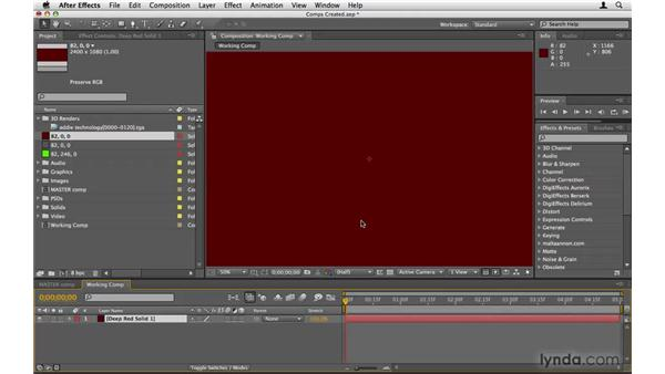 Making color palette solids: After Effects Project Workflow