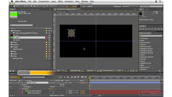 Creating guides: After Effects Project Workflow