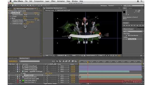 Using Grow Bounds to fix the dragon: After Effects Project Workflow