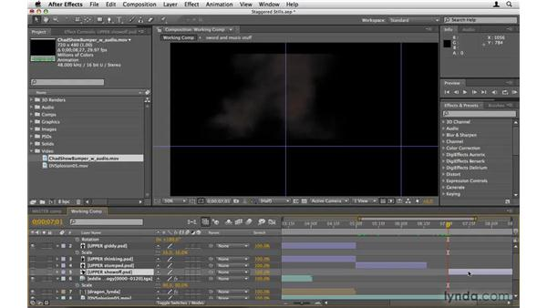 Simulating motion with stills: After Effects Project Workflow