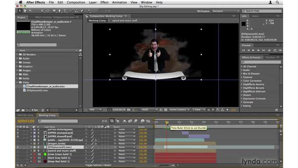 Using the Slip Edit tool on video: After Effects Project Workflow