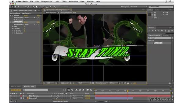 Warping the text: After Effects Project Workflow