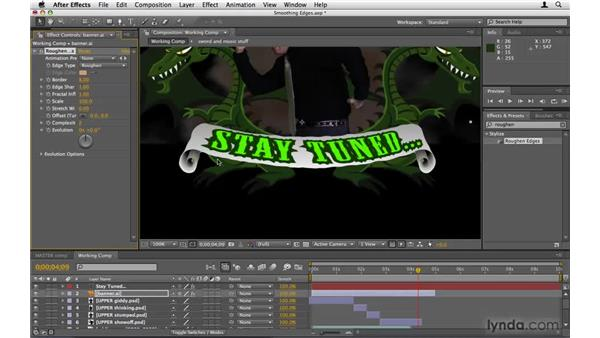 Smoothing the banner's edges: After Effects Project Workflow