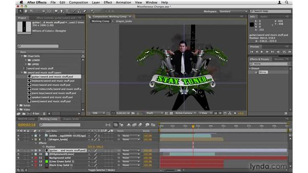 Making other tweaks : After Effects Project Workflow