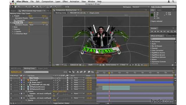 Arranging the elements in 3D space: After Effects Project Workflow
