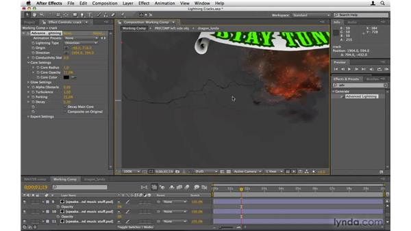 Making cracks with Advanced Lightning: After Effects Project Workflow