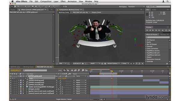 Using scale to simulate bounce: After Effects Project Workflow