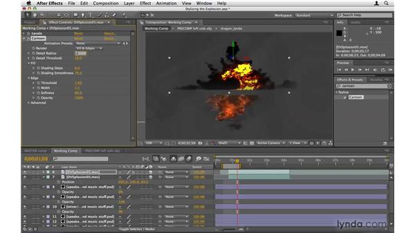 Stylizing the explosion: After Effects Project Workflow