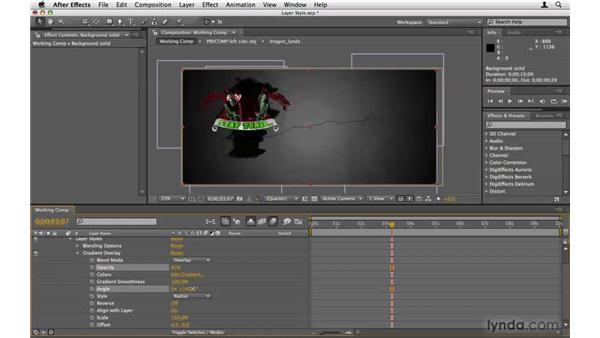 Using Layer Styles to color the background: After Effects Project Workflow