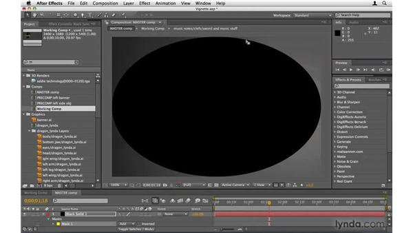 Adding a vignette: After Effects Project Workflow