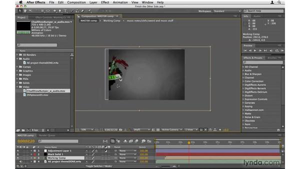 Assignment: Completing the second side: After Effects Project Workflow