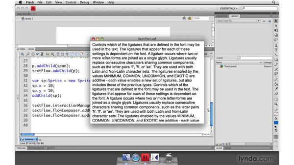 Multicolumn text: Flash Player 10 New Features