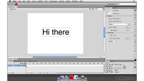 Device font animation: Flash Player 10 New Features
